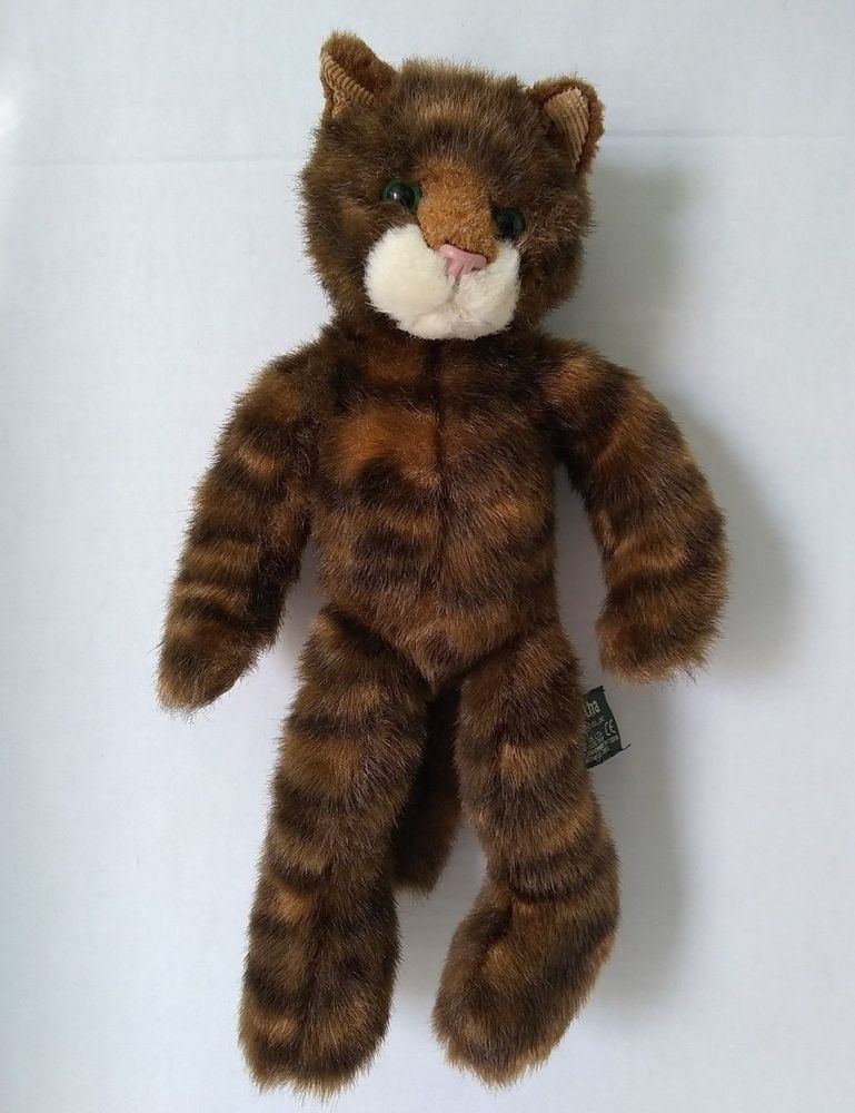 Russ Tabatha Tabby Kitty Cat Brown Plush Stuffed Toy Long Legs