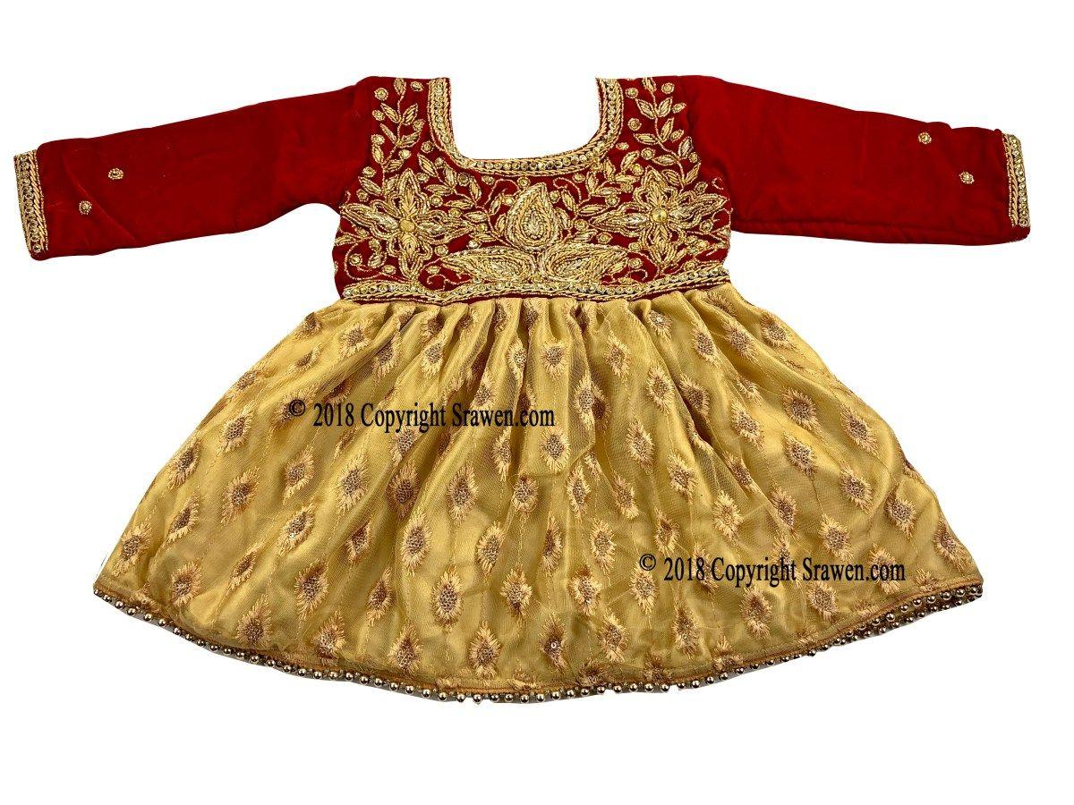 Nepali Weaning Pasni Dress Red Velvet Baby Annaprashan