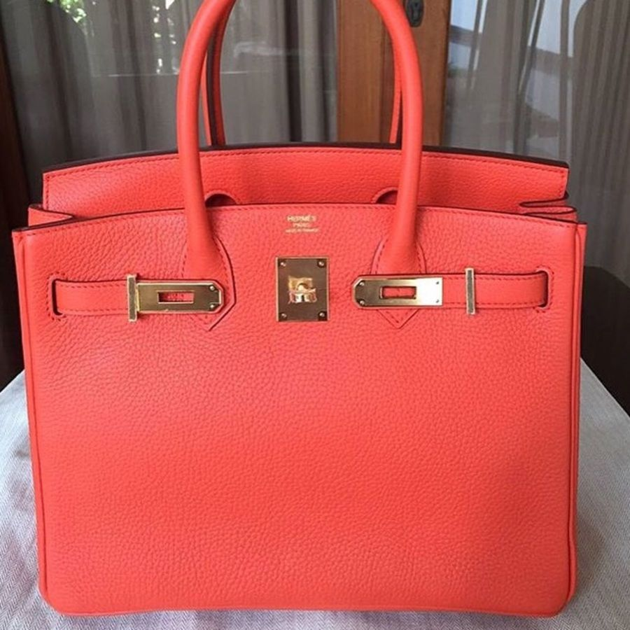 6dc35b037003 Hermes Birkin 30 - Orange Poppy - Stiff Clemence - Gold hardware - T stamp