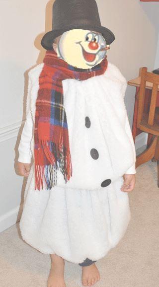 Как сшить новогодний костюм снеговика для мальчика своими ...