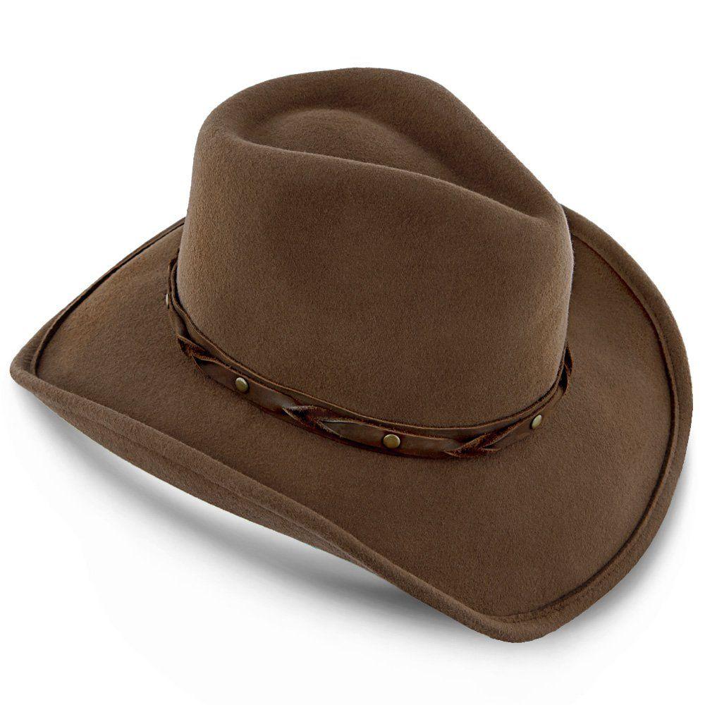 Shetland Walrus Hats Dark Brown Wool Felt Cowboy Hat H7013 Felt Cowboy Hats Cowboy Hats Leather Hat Bands