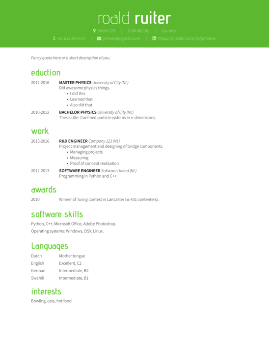 xelatex thesis template