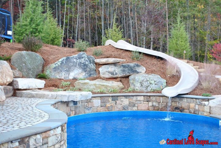 Boulders Around Pool Adorable Boulders Are A Great Addition To Landscaping Around A Pool