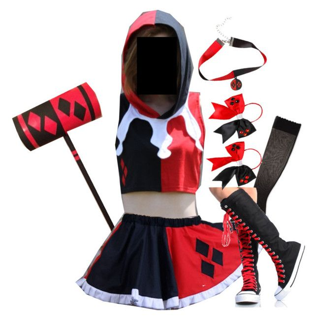 """Harley Quinn"" by strawberry-wolf ❤ liked on Polyvore featuring Kate Spade"