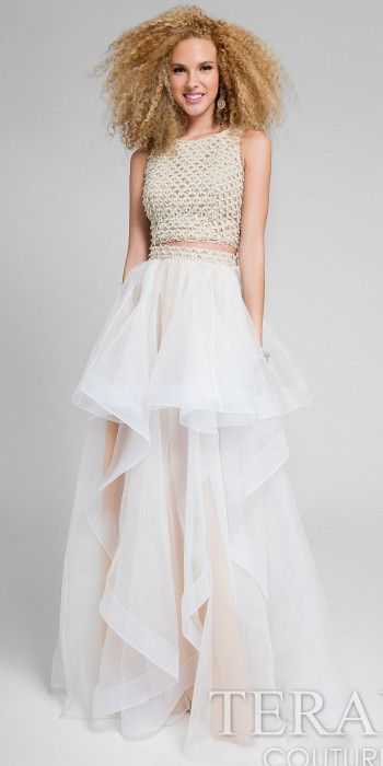 Alert the crowd of your arrival in this Two Piece A-line Vertical ...