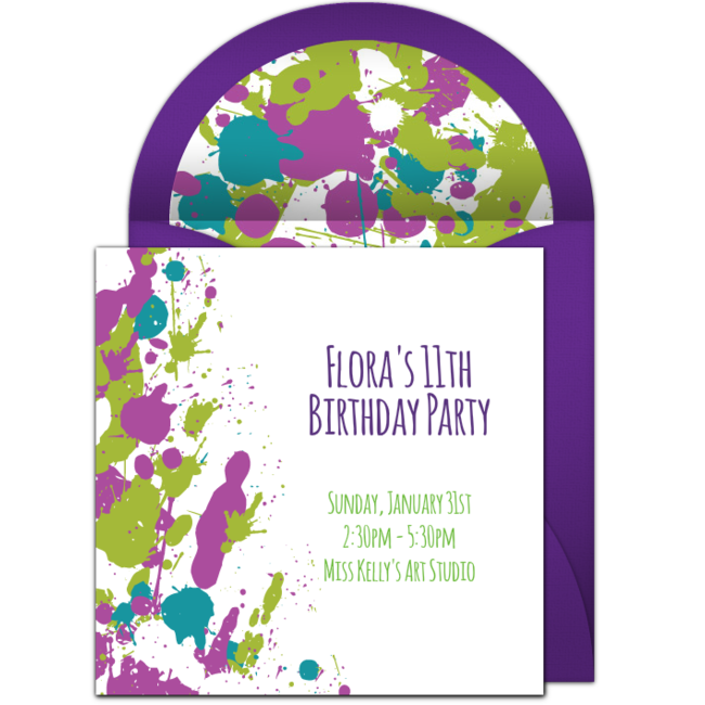 Customizable Free Scribble Balloons Online Invitations Easy To Personalize And Send For A Party Punchbowl