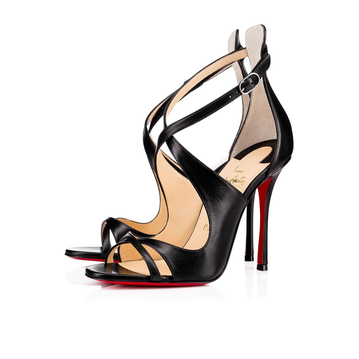 huge discount f8af4 8a97a CHRISTIAN LOUBOUTIN Malefissima 100Mm Black Leather ...