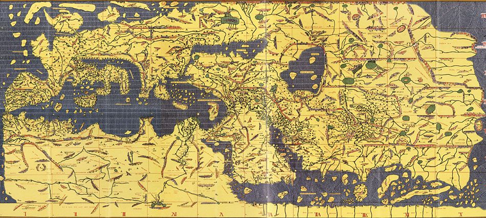 Al idrisis 12th century map of europe north africa and asia i al idrisis 12th century map of europe north africa and asia i love how beyond spain its just a bunch of unimportant little islands to the north west gumiabroncs Gallery