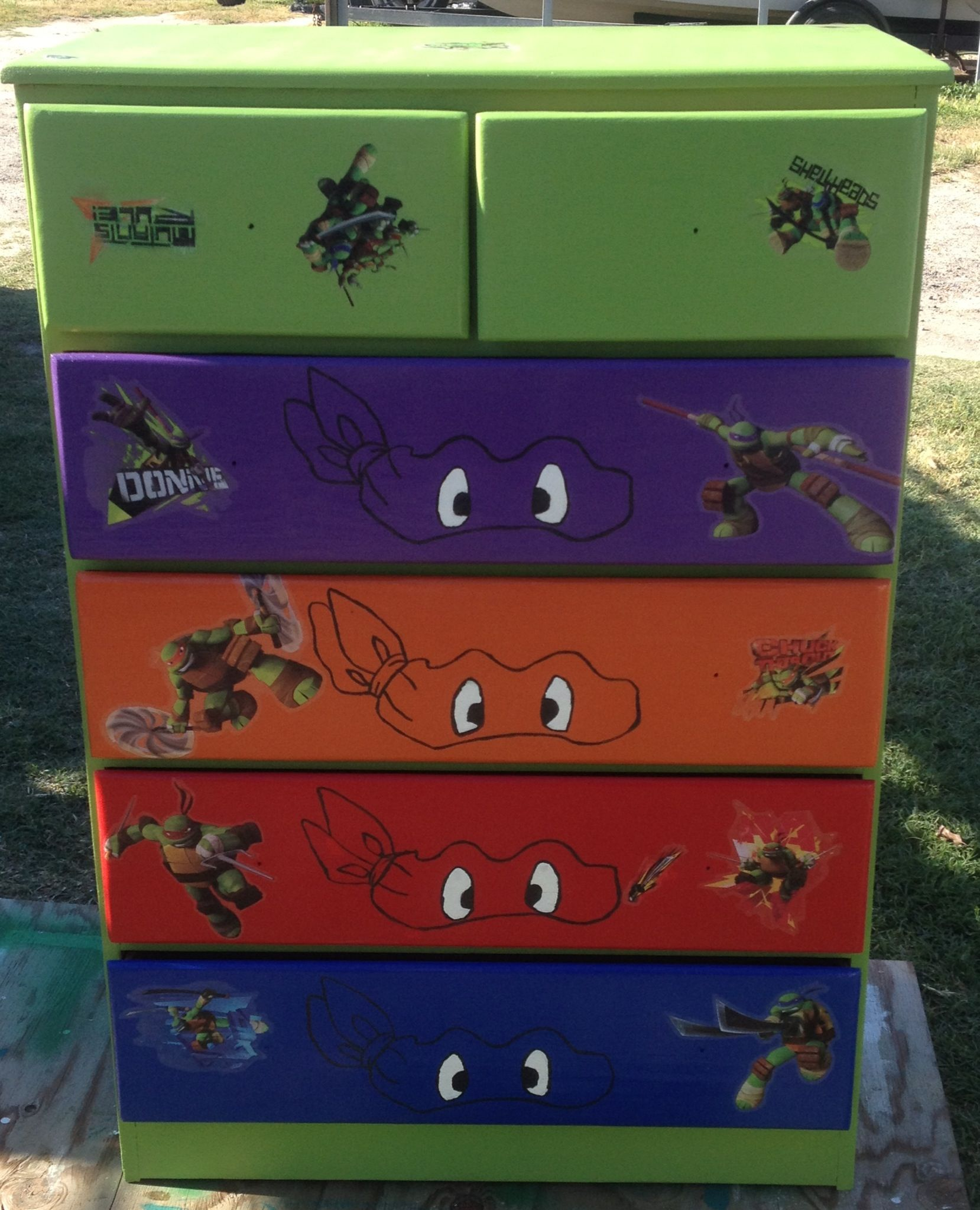 Teenage Mutant Ninja Turtles Bedroom Ideas  my little boy better like tmnt  like his parents do. Ninja turtle dresser   Projects   Pinterest   Ninja turtles