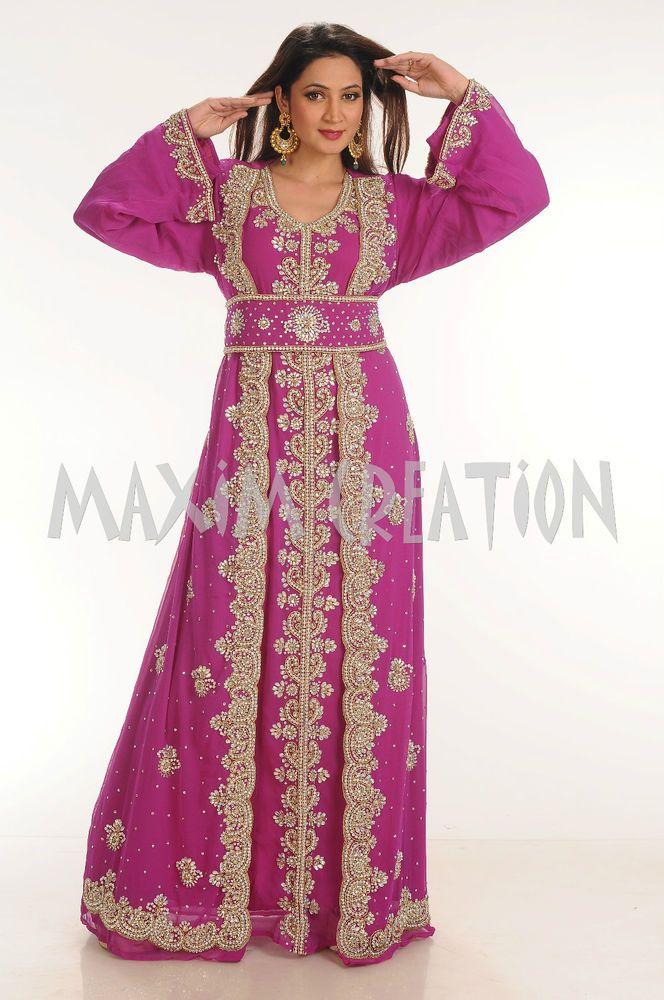 Moroccan arabian beach style kaftan jalabiya maxi dress bridal ...