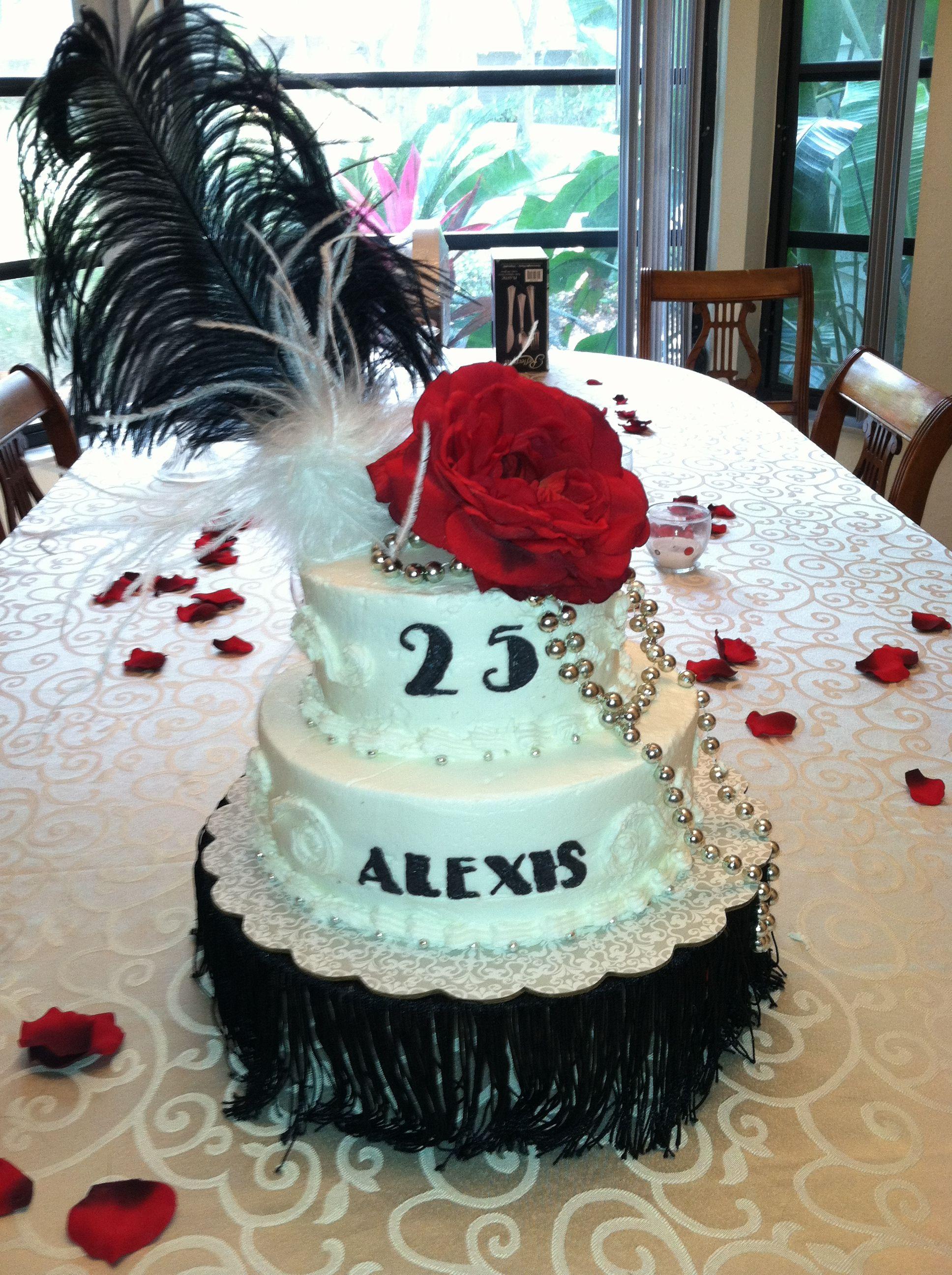 25th Birthday Quot 1925 Theme Cake Quot 25th Birthday Parties