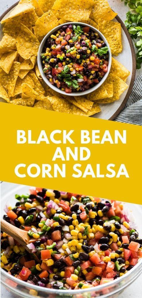 Black Bean and Corn Salsa #mexicancooking