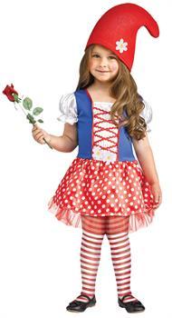 Girl's Gnome Costume - CostumePub.com
