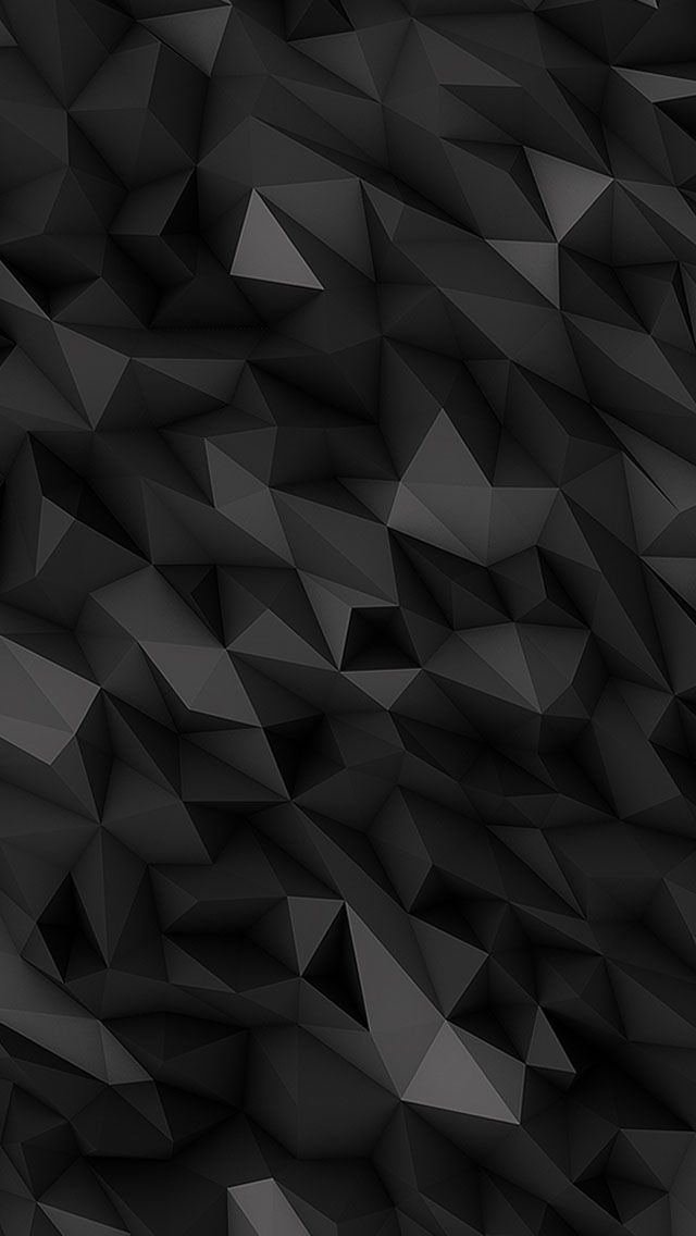3d Black Polygons Wallpaper Iphone Meilleurs Fonds D Ecran Iphone Fond Ecran Noir Fond D Ecran Telephone