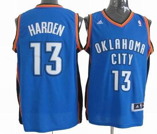 2f2c34e7fcf Oklahoma City Thunder #13 James Harden Blue Jerseys 19.5$ | James ...