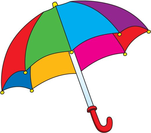 rainbow umbrella clip art - photo #26
