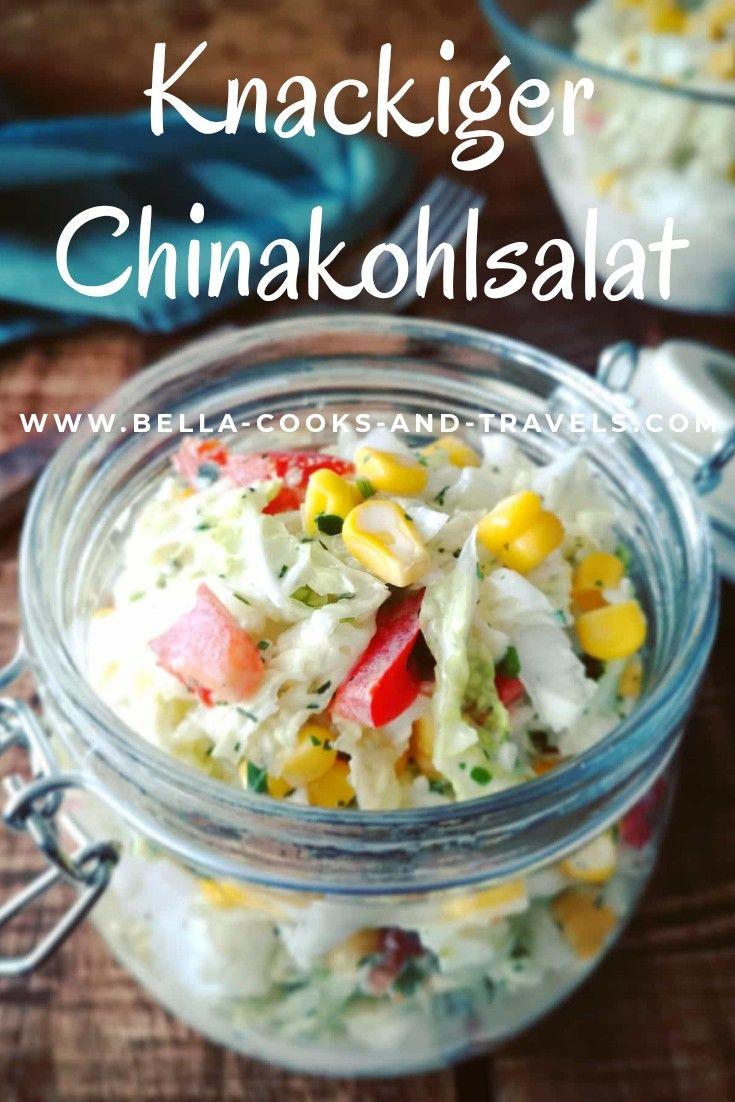 Rezept für knackigen Chinakohlsalat #schnellundeinfach #salat #chinakohl #gesund