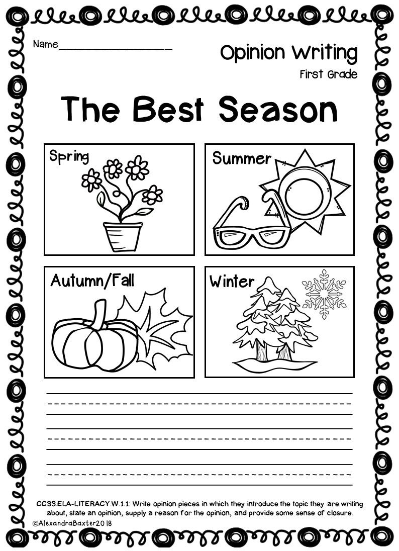 medium resolution of First Grade Opinion Writing Prompts and Worksheets   Writing worksheets