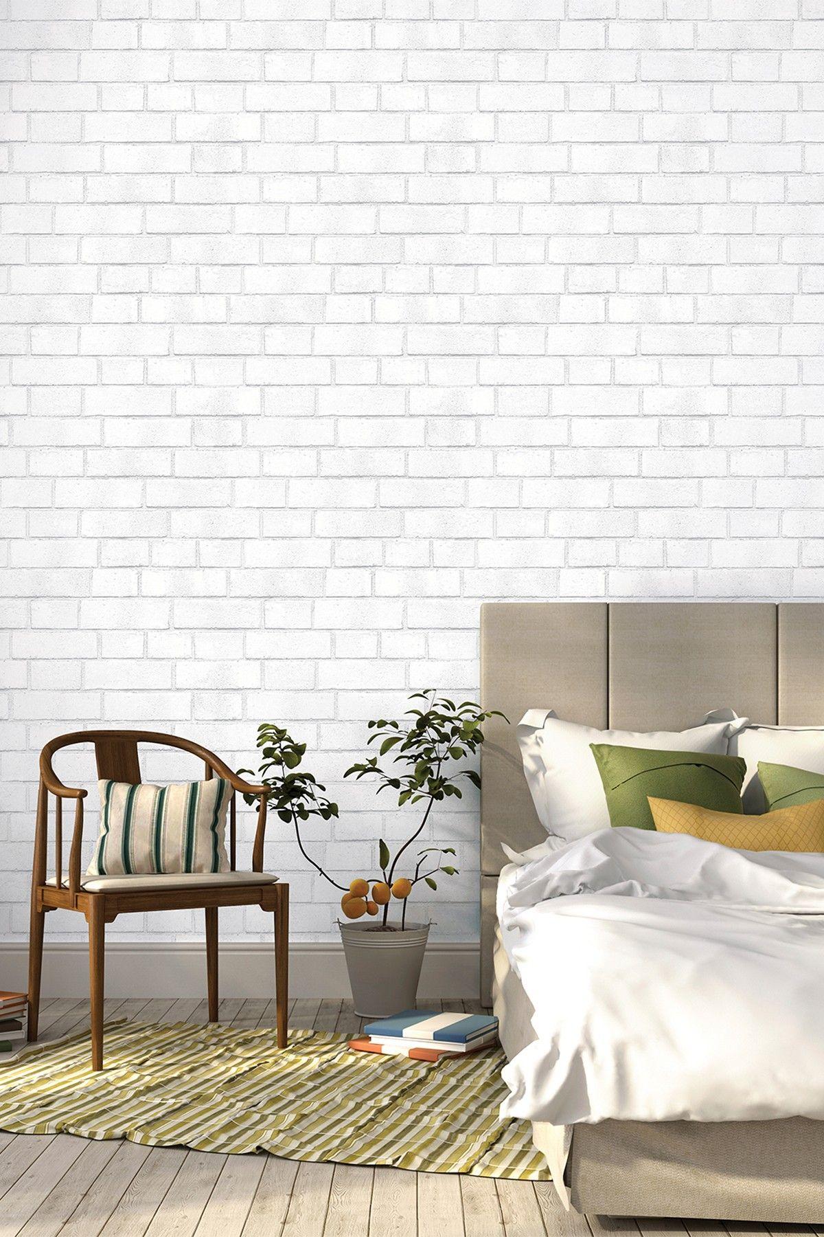 Tempaper Textured White Brick HauteLook White brick