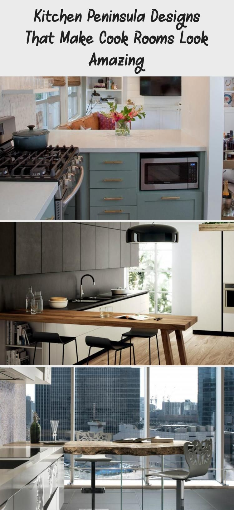 Kitchen Peninsula Designs That Make Cook Rooms Look