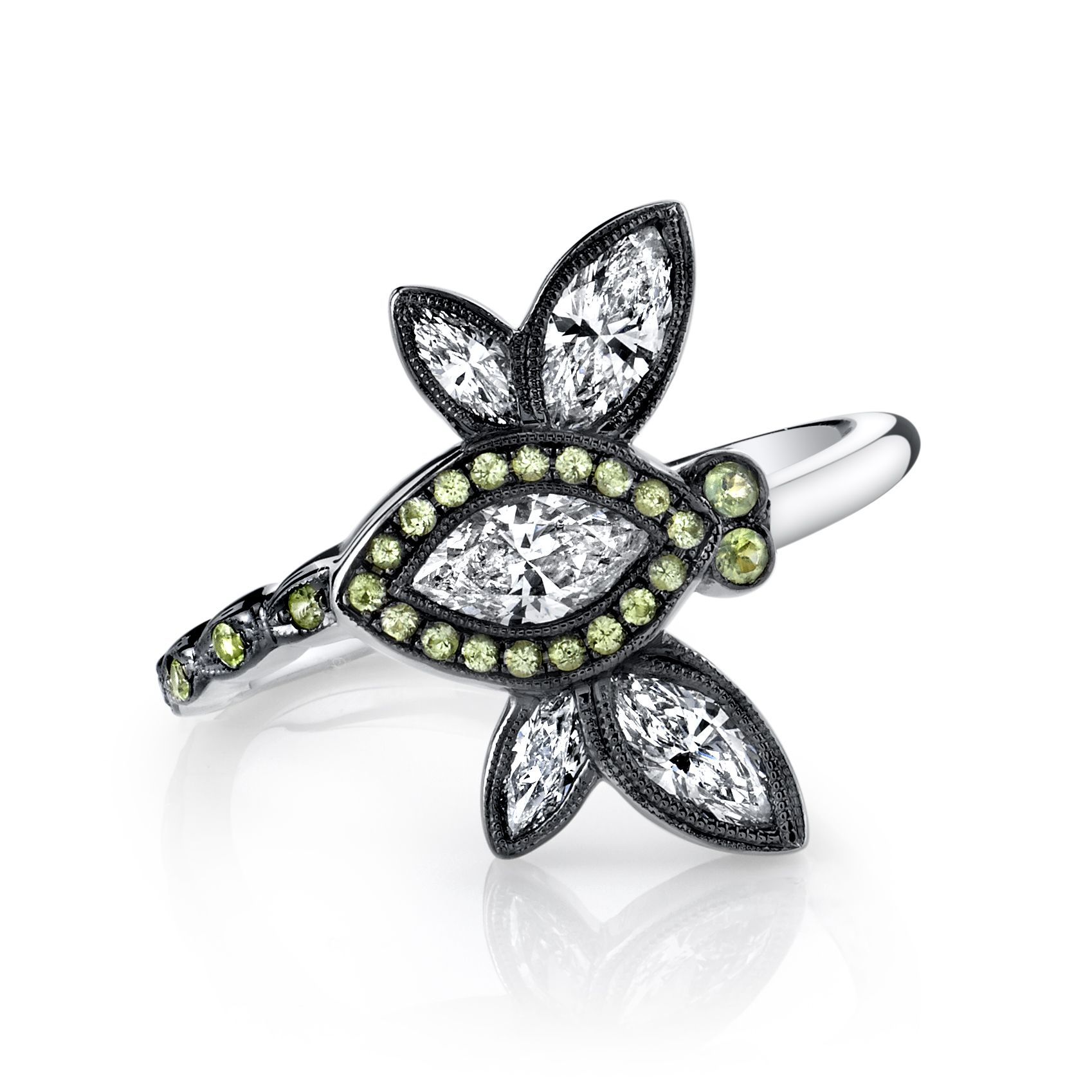 dragonfly rings jewelry engagement sterling ring product with yellow silver diamonds ar gold