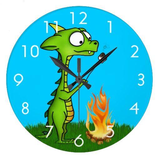 Dragon Fire Wall Clocks