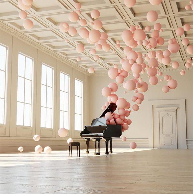Balloon Concerto Piano Federico Picci Balloon Installation