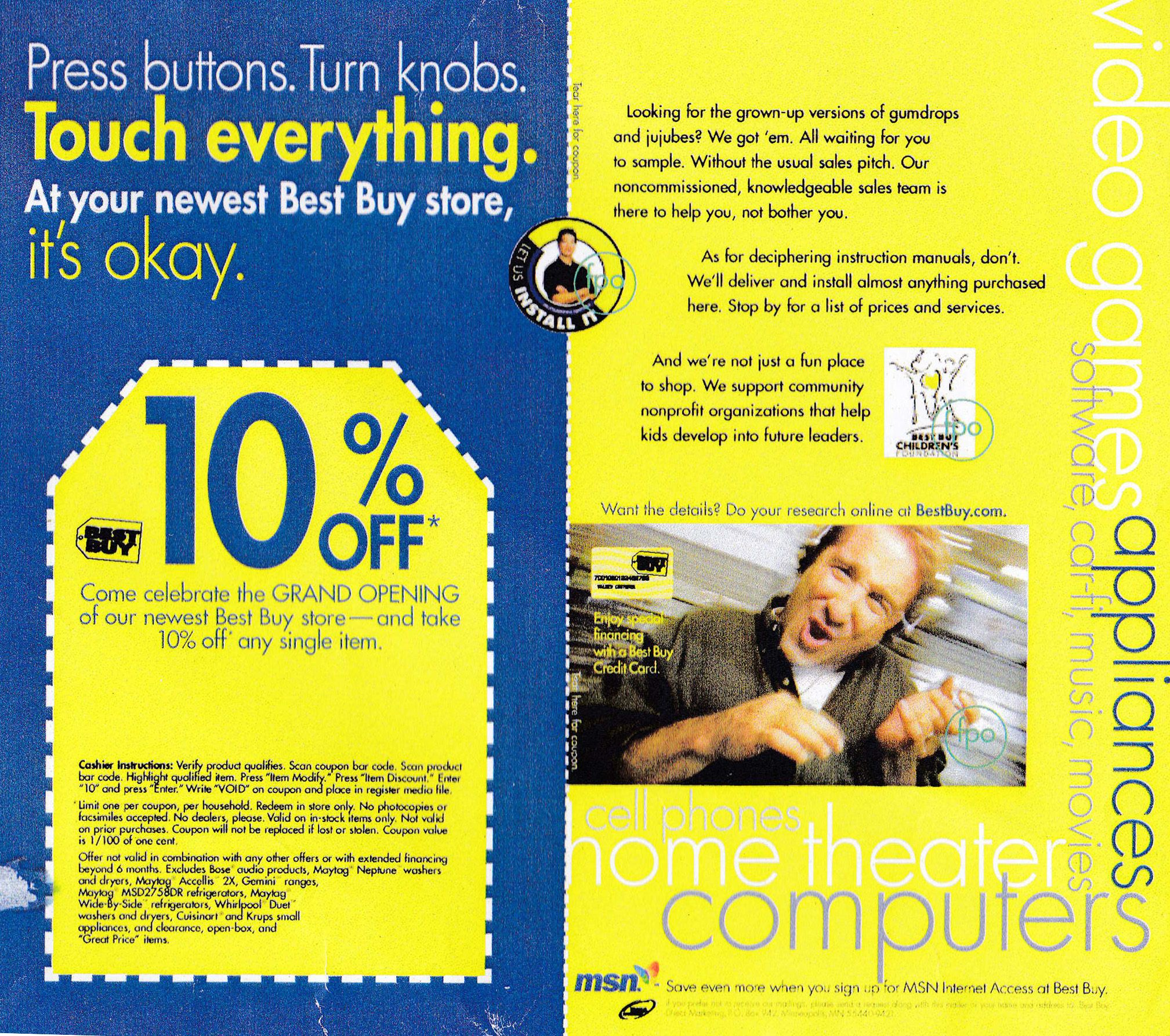"""[Agency: Digitas/Boston] Best Buy direct online campaign """"Touch Everything"""" concept and copy."""