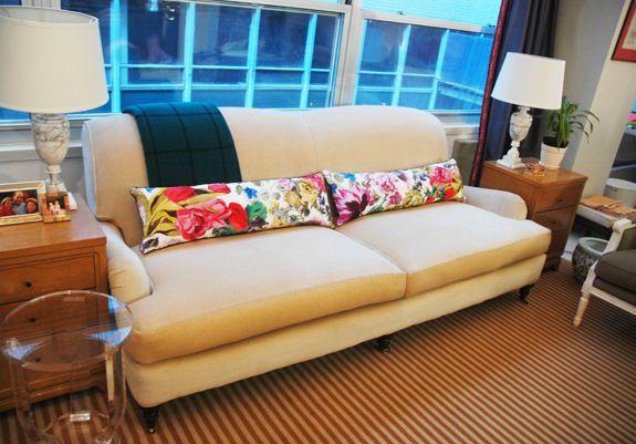 Little Green Notebook Layering Fl Pillows Bolster For Sofa
