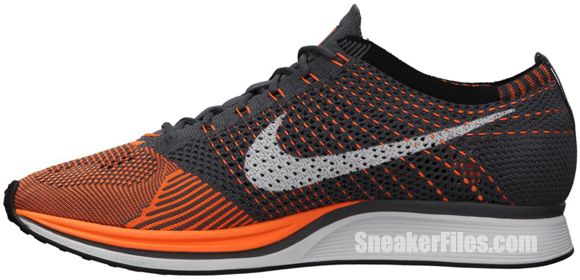 Nike FlyKnit Racer 'Total Orange/White-Dark Grey' Mark your calendars for  this Friday's release of the Nike FlyKnit Racer. This Total  Orange/White-Dark Grey ...