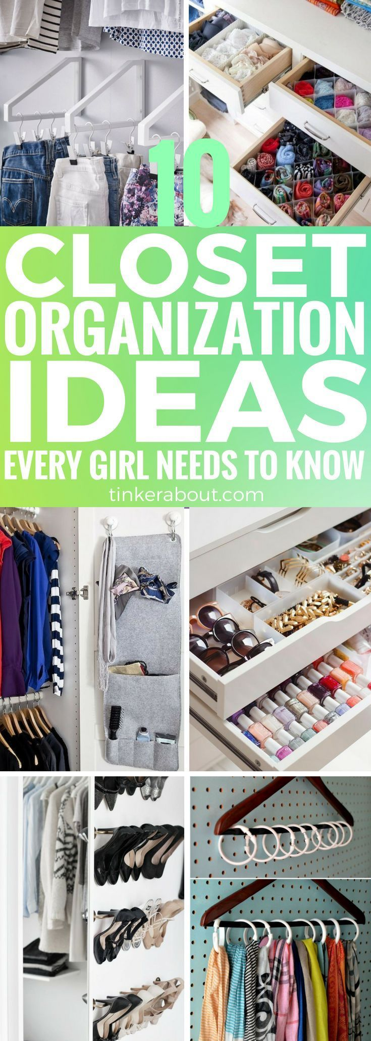 10 Closet Organization Ideas To Keep Your Bedroom Organized is part of bedroom Organization Closet - Organize your closet and keep the mess out of your bedroom! Click through to find 10 cheap & easy closet organization ideas!