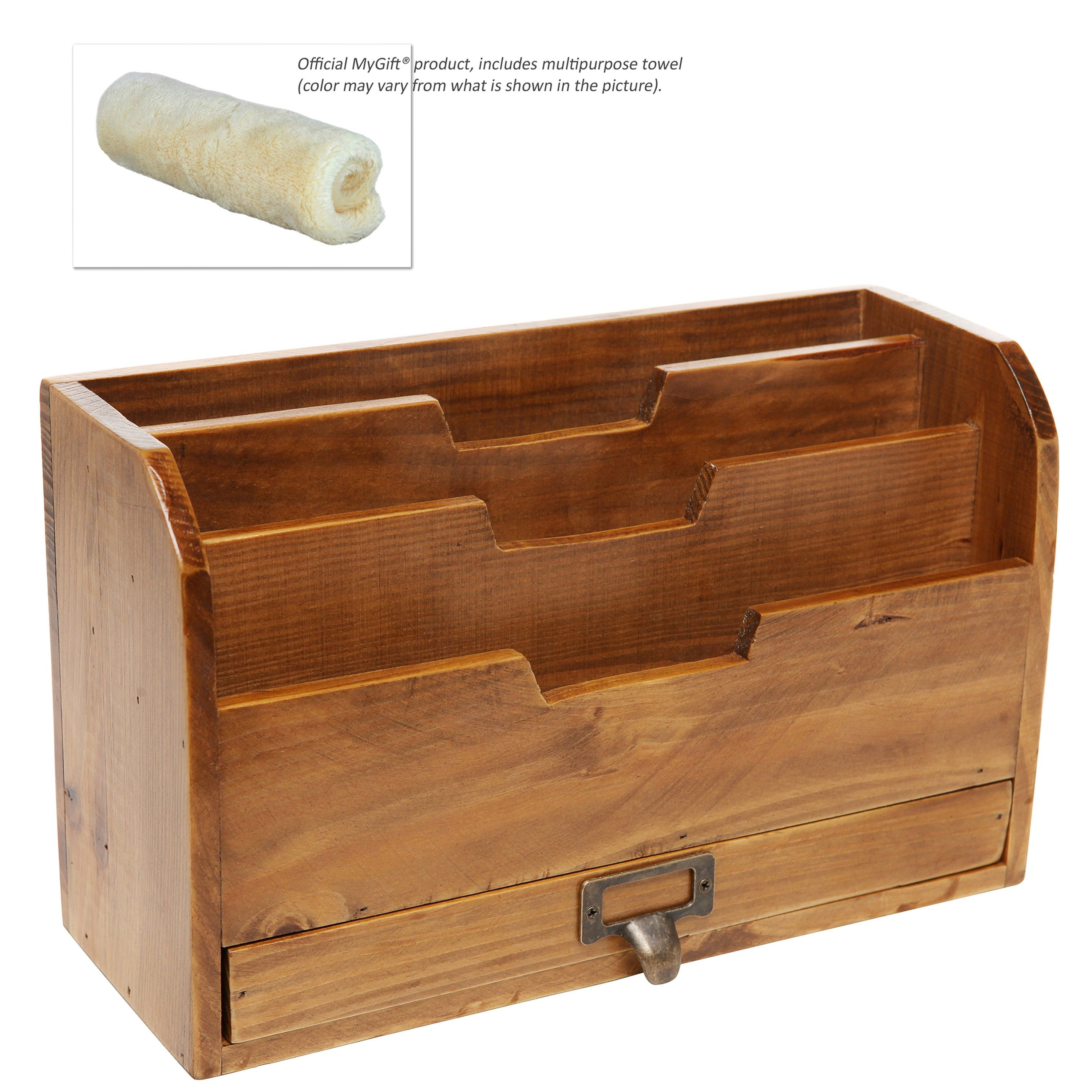 3 Tier Country Rustic Vintage Office Desk File Organizer