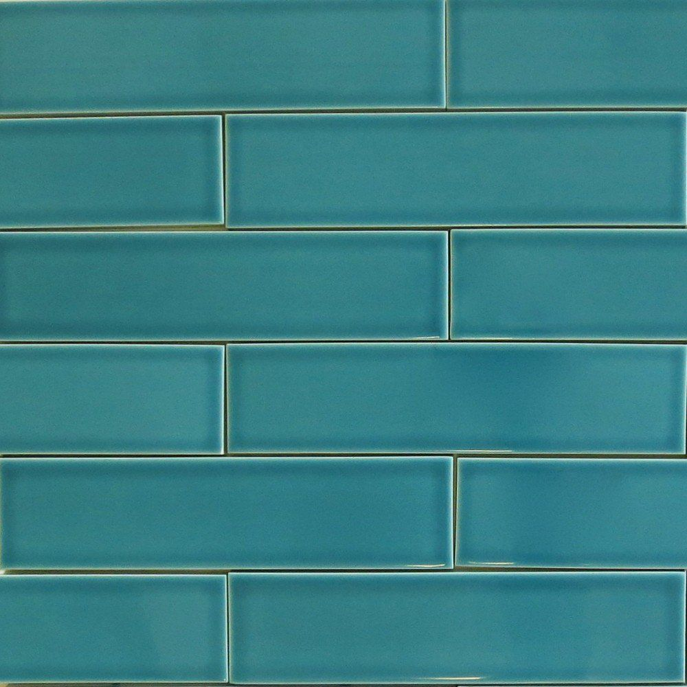 Clayhaus 2x8 Teal Agate Blue Green Ceramic Tile Our
