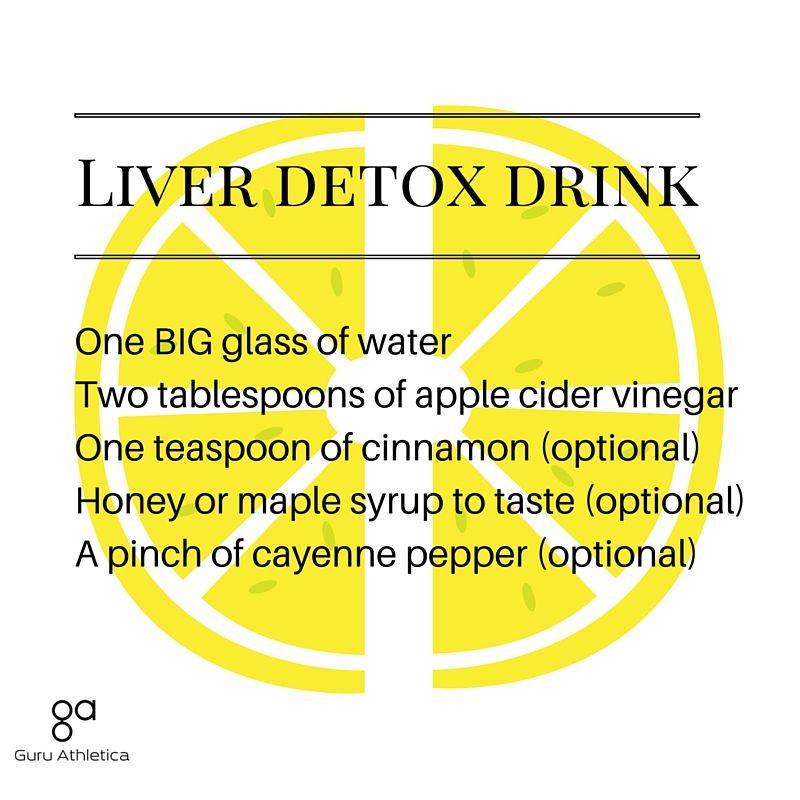 Apple cider vinegar liver detox drink Liver detox, Liver