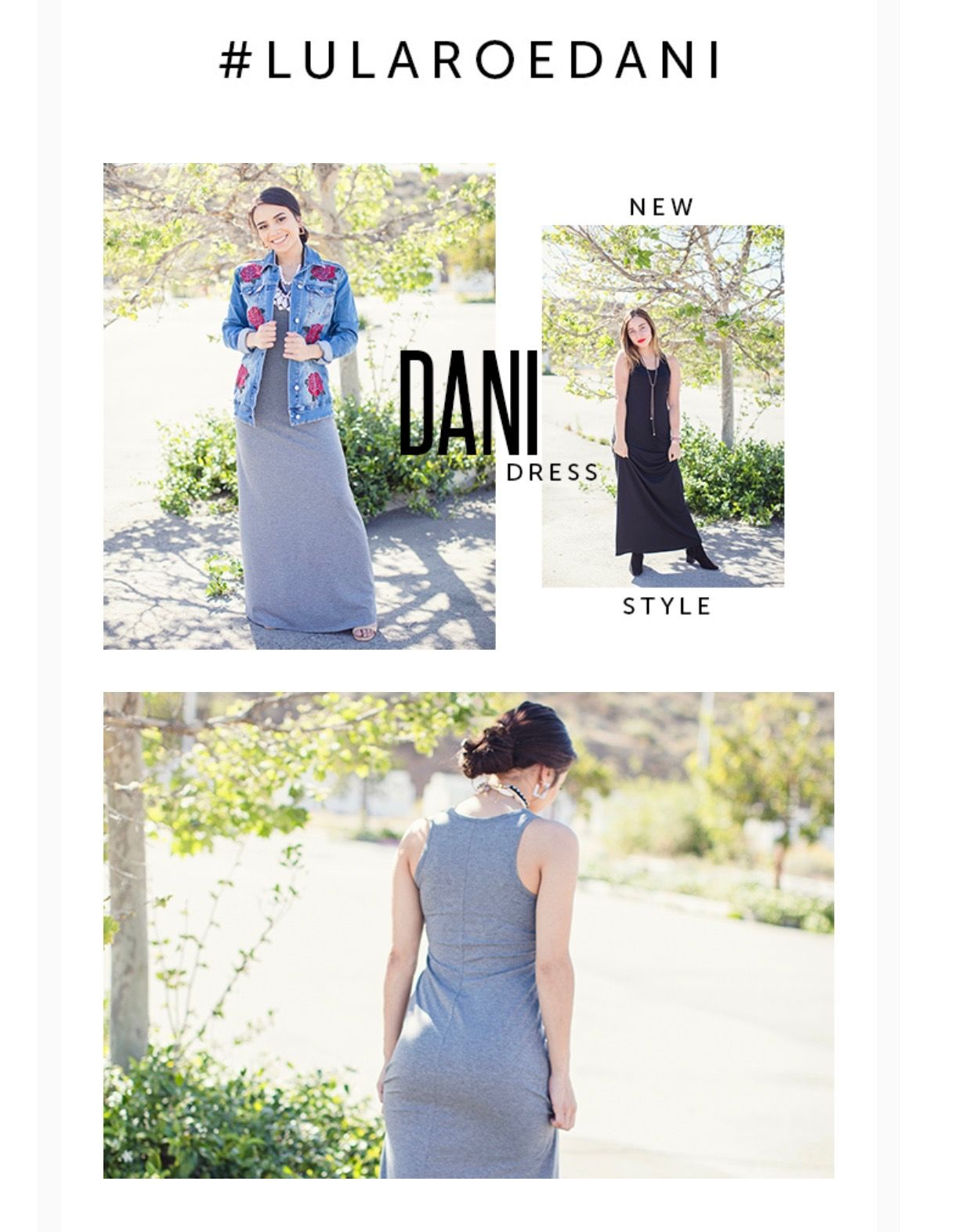64201e3af12 Tank maxi dress! Lularoe Dani is the first Lularoe tank top style dress!  Perfect on it s own or layered with a Lularoe Harvey! Click to shop and get  more ...