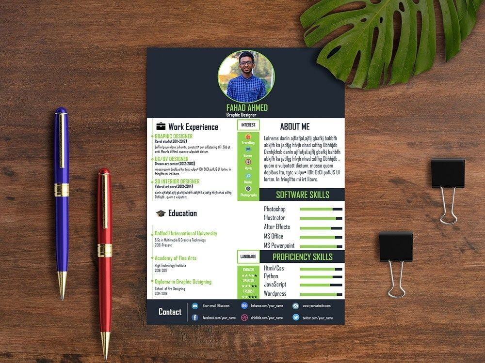 19++ Resume powerpoint presentation templates inspirations