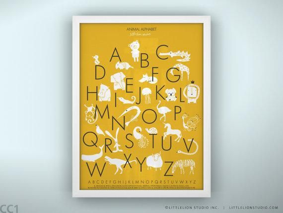 Art/Wall Decor - Animal Alphabet Poster Unframed by LeoLittleLion on ...