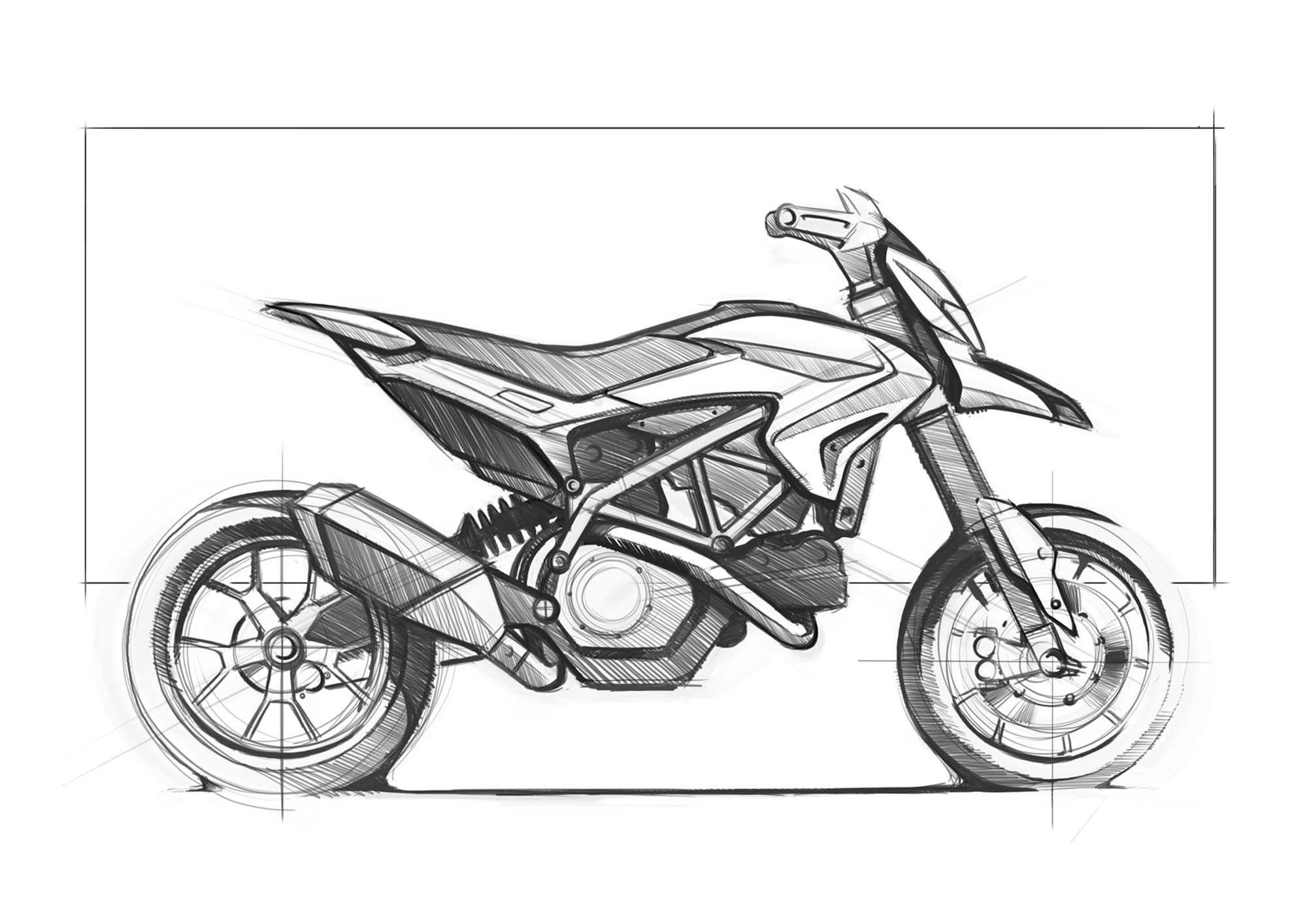 Ducati Hypermotard Sketch
