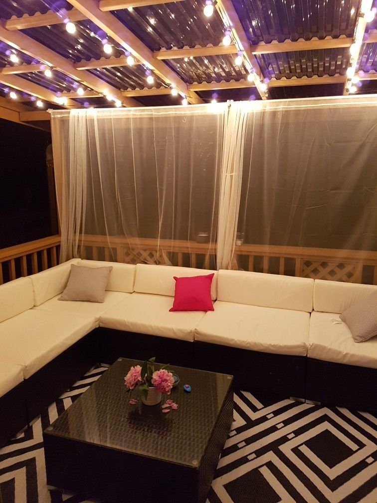 Cozy outdoor living space. Conversation patio set with ... on Living Spaces Patio Set id=51481