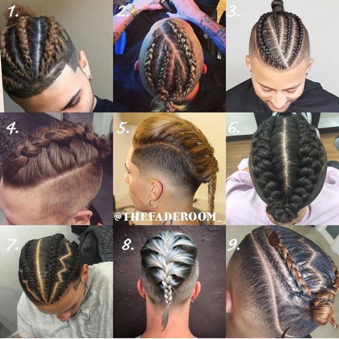 different braids styles for men | mens long hairstyles in