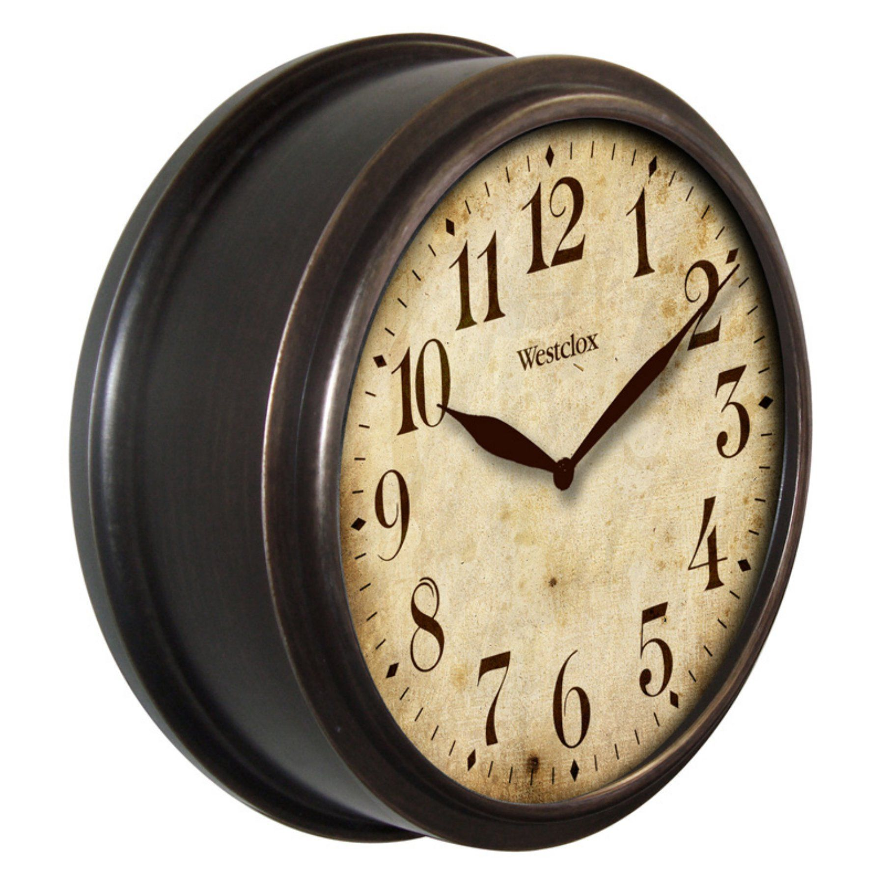 Westclox 10 In Vintage Design Wall Clock 32217b Classic Clocks Unique Wall Clocks Clock