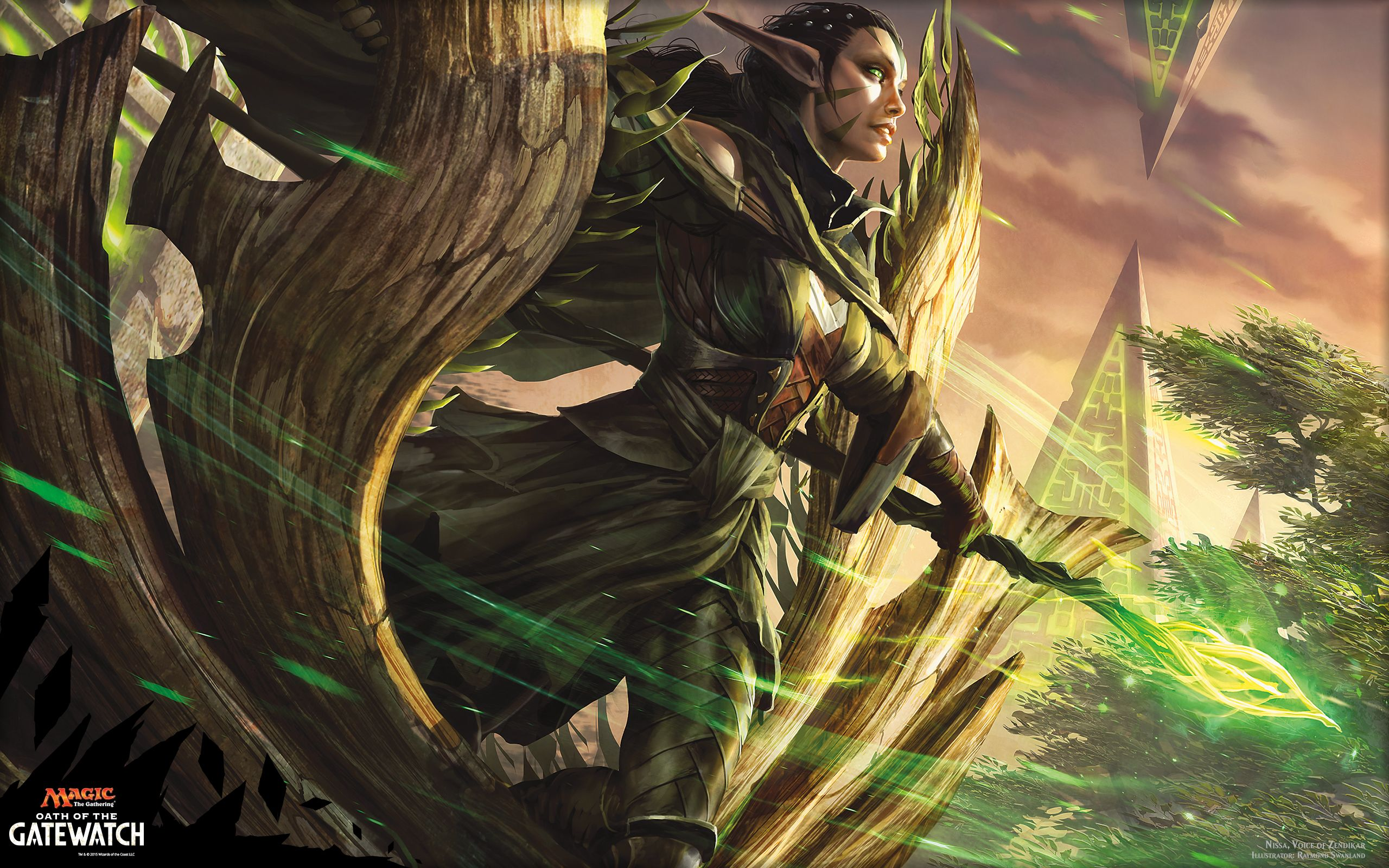 Nissa Voice Of Zendikar Ogw 2560x1600 Wallpaper Jpg 2560 1600 Hd Wallpaper Mtg Wallpaper