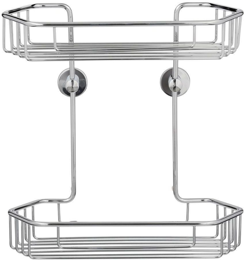 Draad No Drill Wall Mount Chrome Shower Caddy Organizer 11 In. 2 ...