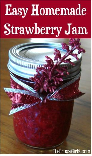 Easy Freezer Jam Recipe! ~ from TheFrugalGirls.com ~ stock your freezer and give some as gifts!! It's so simple and absolutely delicious! #recipes #masonjars #thefrugalgirls