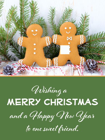 Friendship Is Sweet Merry Christmas Card For Friends Birthday Greeting Cards By Davia Merry Christmas My Love Birthday Greeting Cards Merry Christmas Card