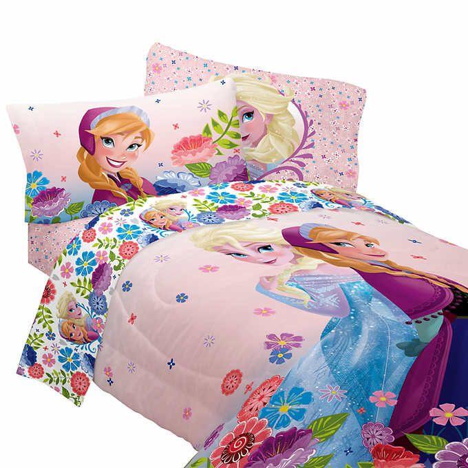 Cheap Bedroom Sets Kids Elsa From Frozen For Girls Toddler: Disney Frozen Twin Comforter And Sheet Set