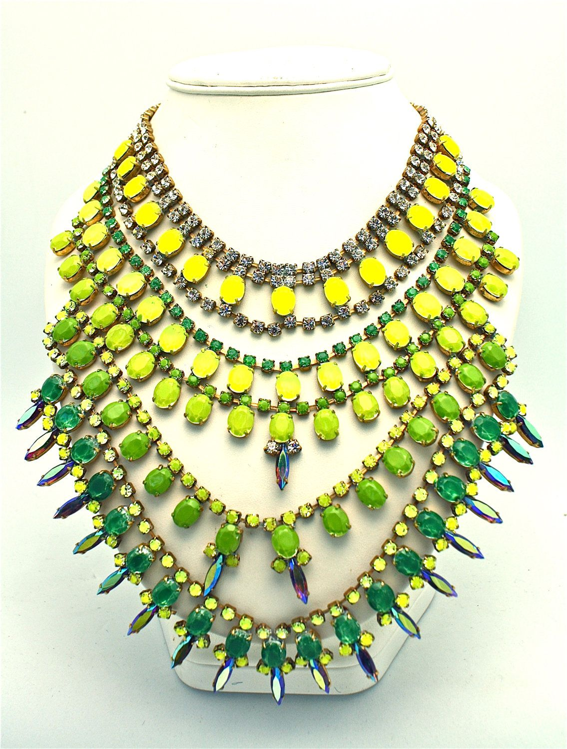 One of a Kind Statement Necklace- Brazzaville 2 (Reserved). $500.00, via Etsy.