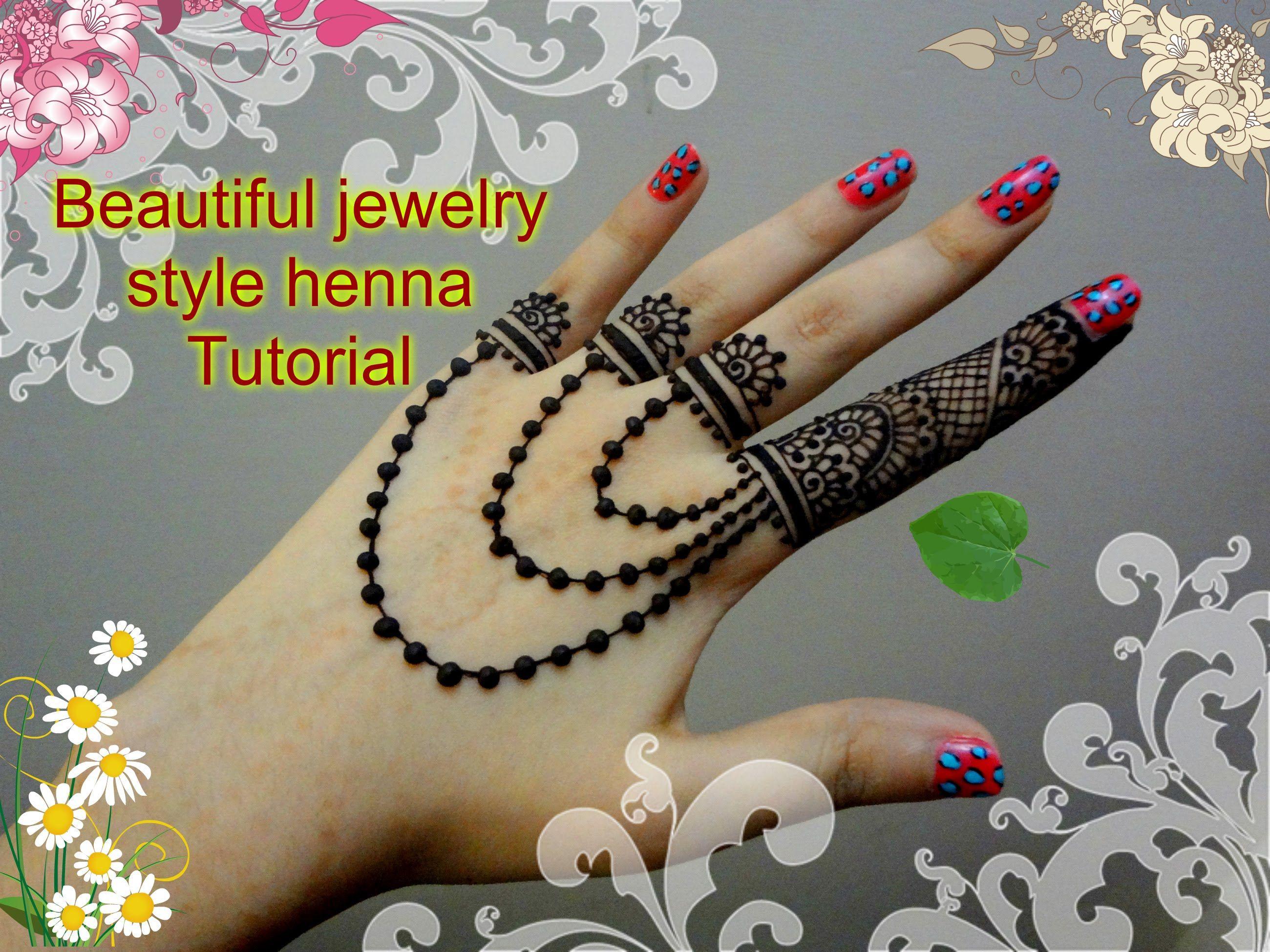 Beautiful henna mehndi jewelry inspired design tutorial for eid beautiful henna mehndi jewelry inspired design tutorial for eid baditri Images