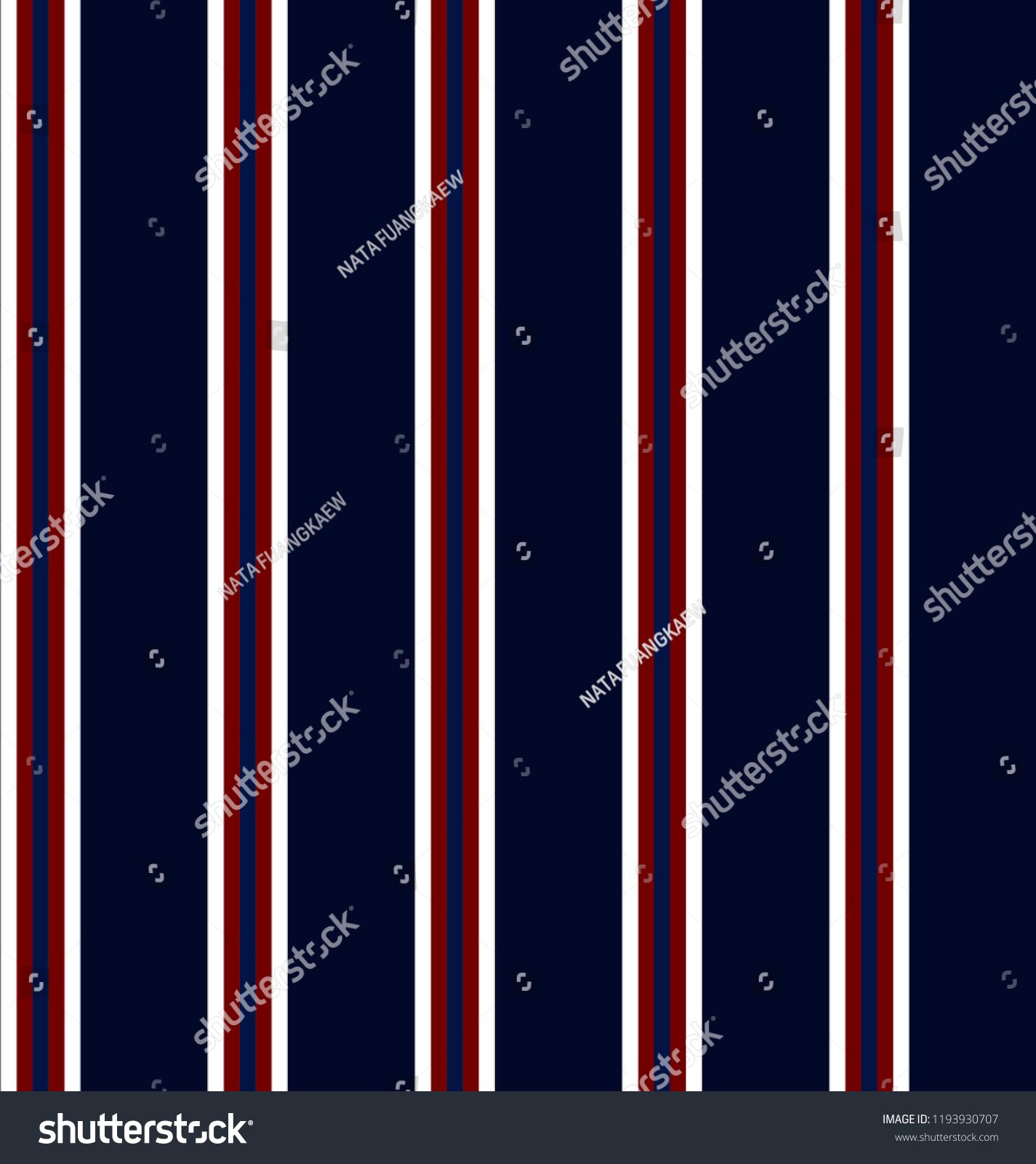 0937838c Stripe seamless pattern with navy blue,red and white colors vertical  parallel stripes.Vector pattern stripe abstract background. blue #red#white#navy