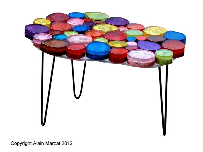 Table basse de style contemporain GUERIDON NUAGE by ALAIN MARZAT